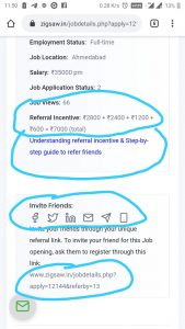 Understanding Referral Incentives & step-by-step guide to refer your friends family or colleagues for Jobs. Step-by-step guide to refer friends for Jobs on Mobile